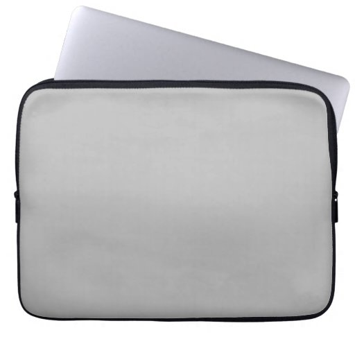 Light Gray Silver Grey Color Trend Blank Template Computer Sleeves