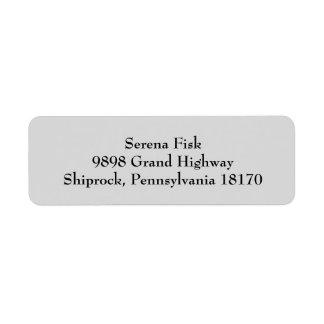 Light Gray Simple Plain Return Address Labels