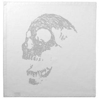 Light Gray Skull. Napkins