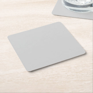 Light Gray Square Paper Coaster