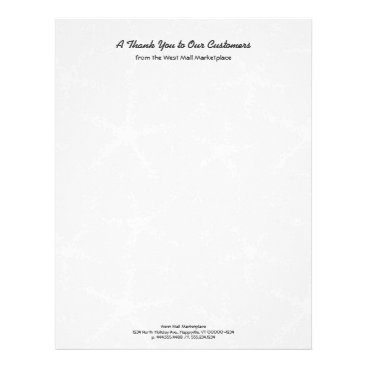 Professional Business Light Gray Starfish Letterhead Business Stationery