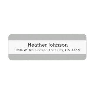 Light Gray Stripes Return Address Labels