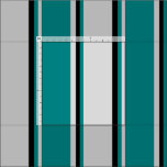 [ Thumbnail: Light Gray, Teal, and Black Colored Lines Fabric ]
