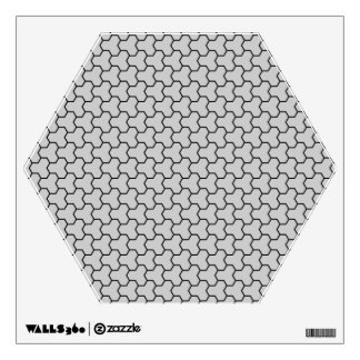 Light Gray Tri-Hex Wall Decal