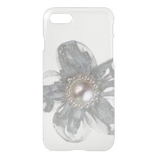 Light gray tulle flower iPhone 7 case