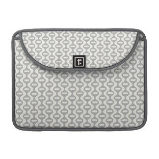 Light Gray Wavy Retro Pattern Sleeves For MacBooks