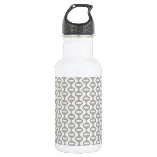 Light Gray Wavy Retro Pattern Water Bottle
