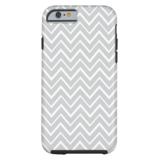 Light gray whimsical zigzag chevron pattern case tough iPhone 6 case