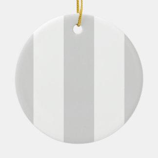 Light Gray White Huge Stripes Christmas Ornament