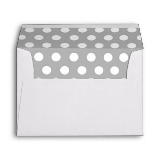 Light gray white large polka dots pattern envelopes