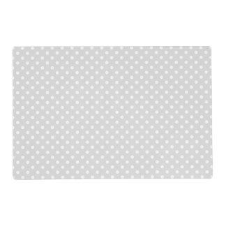 Light Gray White Polka Dot Pattern Placemat