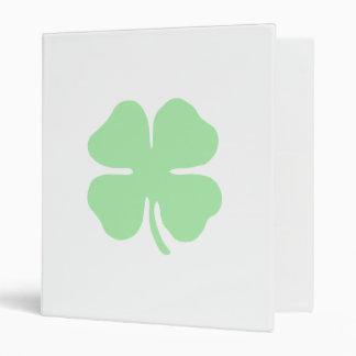 light green 4 leaf clover shamrock png binders