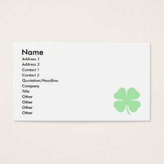 light green 4 leaf clover shamrock.png business card