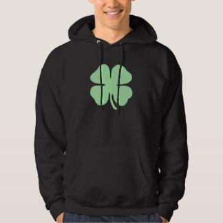 light green 4 leaf clover shamrock.png sweatshirt