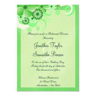 Light Green 5x7 Wedding Rehearsal Dinner Invites