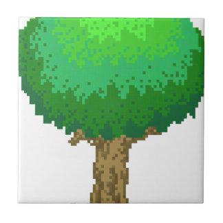 Light Green 8bit Tree Ceramic Tile