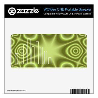 Light green Abstract Pattern Decals For WOWee Speakers