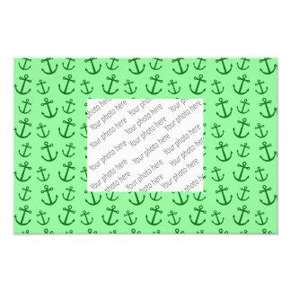 Light green anchor pattern photo
