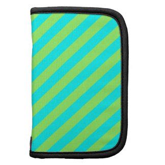Light Green and Aqua Diagonal Stripes Organizer