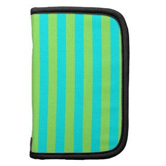 Light Green and Aqua Stripes Folio Planner