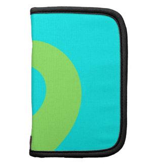 Light Green and Aqua Twirl Folio Planners