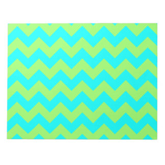 Light Green and Aqua Zigzag Notepad