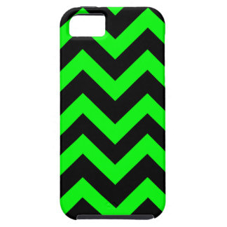 Light Green And Black Chevrons iPhone SE/5/5s Case