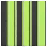 [ Thumbnail: Light Green and Black Colored Lined Pattern Fabric ]