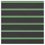 [ Thumbnail: Light Green and Black Striped/Lined Pattern Fabric ]