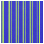 [ Thumbnail: Light Green and Blue Colored Lines Pattern Fabric ]