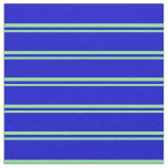 [ Thumbnail: Light Green and Blue Colored Stripes Fabric ]