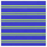 [ Thumbnail: Light Green and Blue Lines/Stripes Pattern Fabric ]
