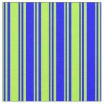 [ Thumbnail: Light Green and Blue Pattern Fabric ]