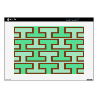 """Light Green and Brown Bricks Decal For 15"""" Laptop"""