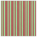[ Thumbnail: Light Green and Brown Pattern of Stripes Fabric ]