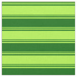 [ Thumbnail: Light Green and Dark Green Colored Pattern Fabric ]
