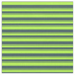 [ Thumbnail: Light Green and Dark Slate Gray Lines Pattern Fabric ]
