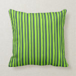 [ Thumbnail: Light Green and Dark Slate Gray Lines Pattern Throw Pillow ]