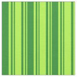 [ Thumbnail: Light Green and Forest Green Colored Lines Fabric ]