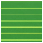 [ Thumbnail: Light Green and Green Colored Lines Fabric ]