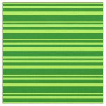 [ Thumbnail: Light Green and Green Colored Lines Pattern Fabric ]