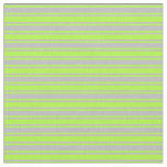 [ Thumbnail: Light Green and Grey Colored Lined Pattern Fabric ]