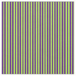 [ Thumbnail: Light Green and Indigo Striped/Lined Pattern Fabric ]