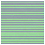 [ Thumbnail: Light Green and Light Slate Gray Colored Lines Fabric ]