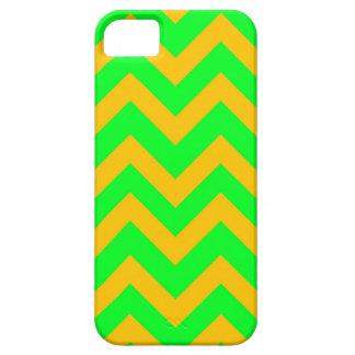 Light Green And Orange Chevrons iPhone SE/5/5s Case