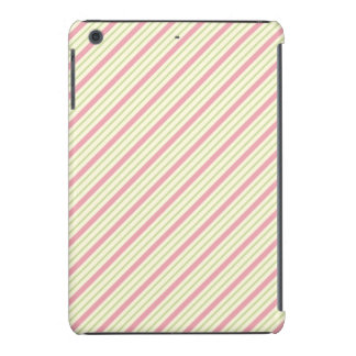 Light Green and Pink Stripes iPad Mini Case