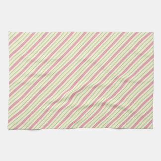 Light Green and Pink Stripes Kitchen Towel