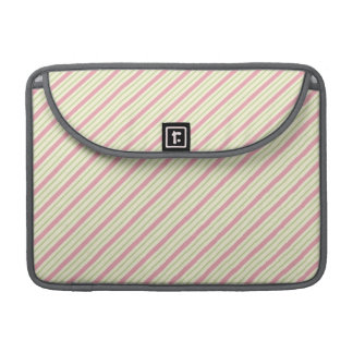 Light Green and Pink Stripes Sleeve For MacBooks