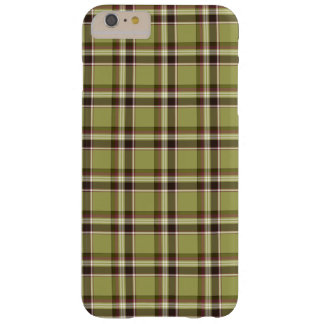 Light Green and Purple Plaid Barely There iPhone 6 Plus Case