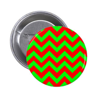 Light Green And Red Chevrons Button